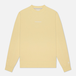Мужская толстовка Calvin Klein Jeans Embroidered Logo Crew Mimosa Yellow