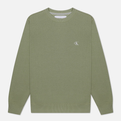 Мужская толстовка Calvin Klein Jeans Embroidered Logo Earth Sage/Black