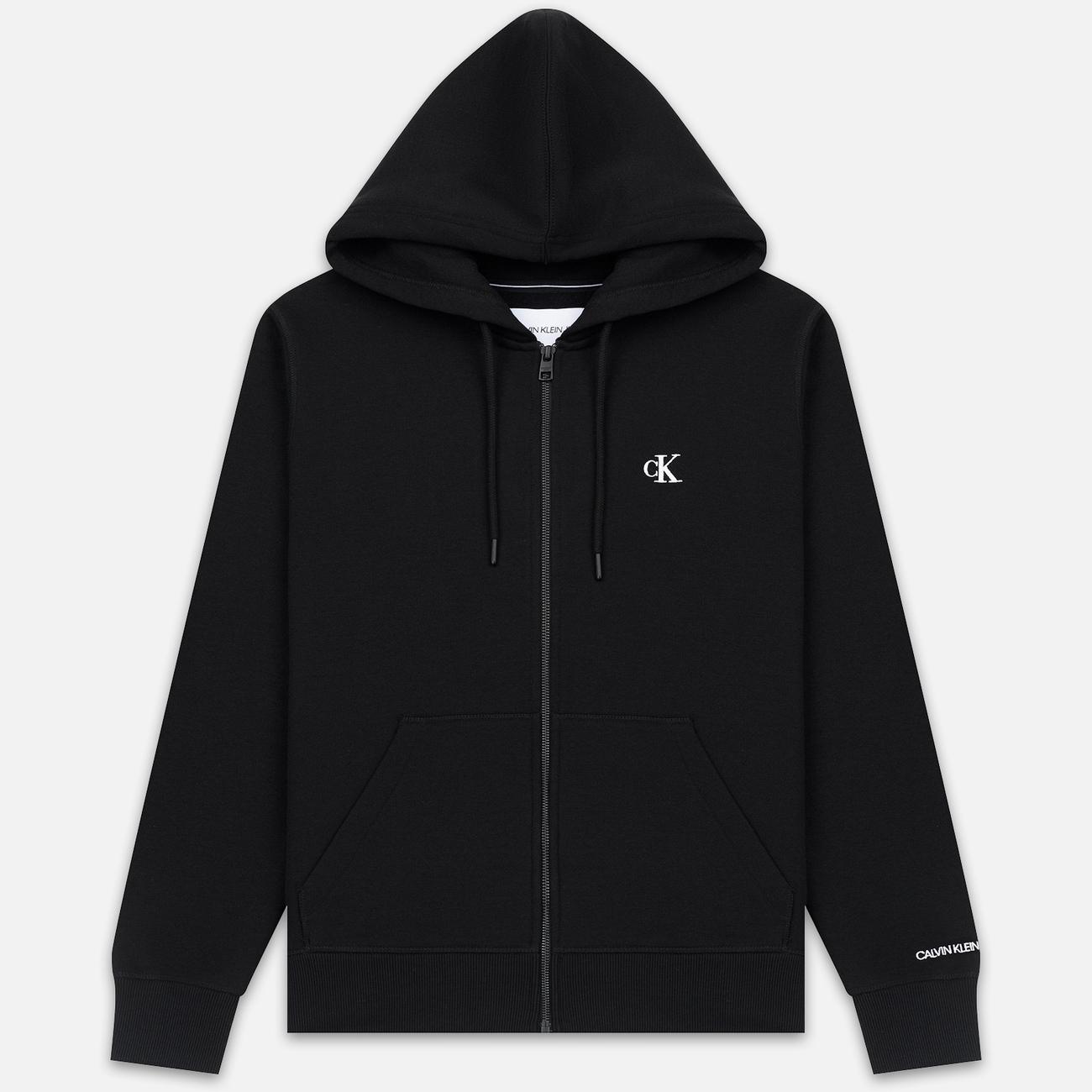 Мужская толстовка Calvin Klein Jeans Essential Zip Hoodie Black