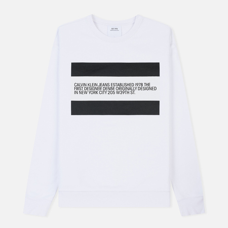 Мужская толстовка Calvin Klein Jeans Est. 1978 Est. 1978 Patch Crew Neck Bright White/Black