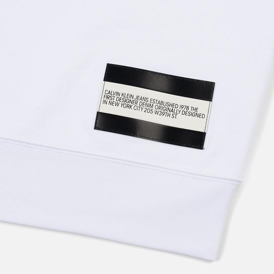 Мужская толстовка Calvin Klein Jeans Est. 1978 Est. 1978 Patch Crew Neck Bright White/Black
