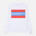 Мужская толстовка Calvin Klein Jeans Est. 1978 Est. 1978 Patch Crew Neck Bright White/Tomato/Regatta фото- 0
