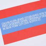 Мужская толстовка Calvin Klein Jeans Est. 1978 Est. 1978 Patch Crew Neck Bright White/Tomato/Regatta фото- 2