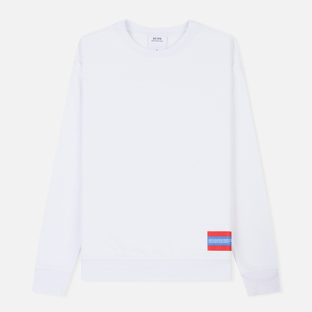 Мужская толстовка Calvin Klein Jeans Est. 1978 Est. 1978 Small Patch Crew Neck Bright White/Tomato
