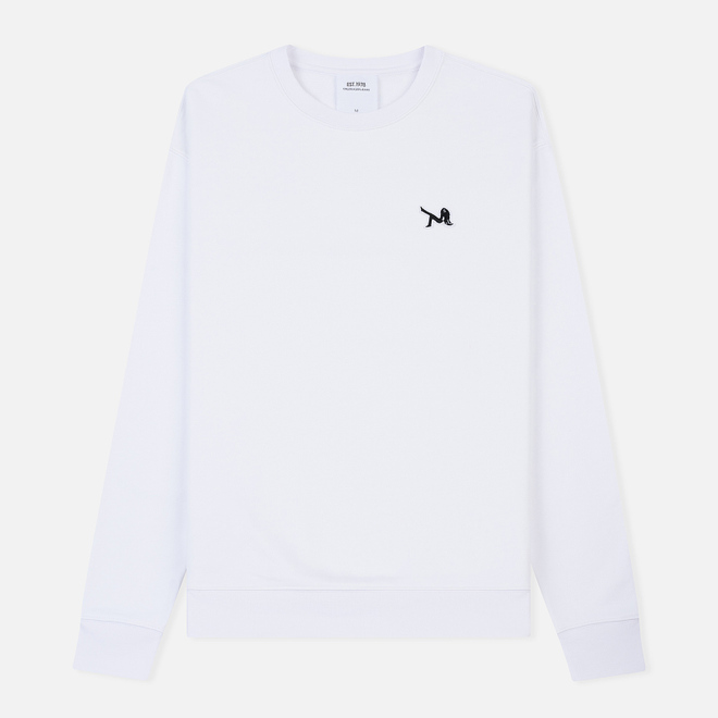 Мужская толстовка Calvin Klein Jeans Est. 1978 Icon Embroidery Crew Neck Bright White/Black