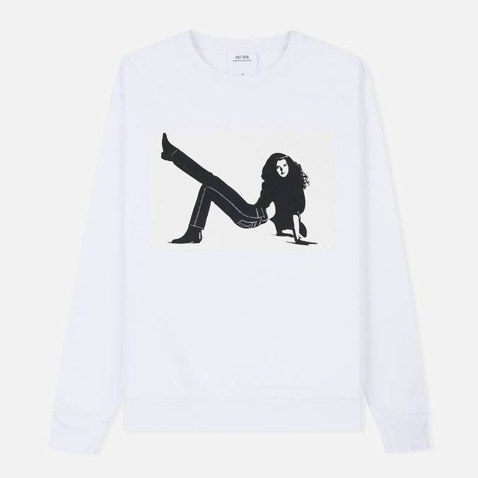 Мужская толстовка Calvin Klein Jeans Est. 1978 Icon Print Crew Neck Bright White