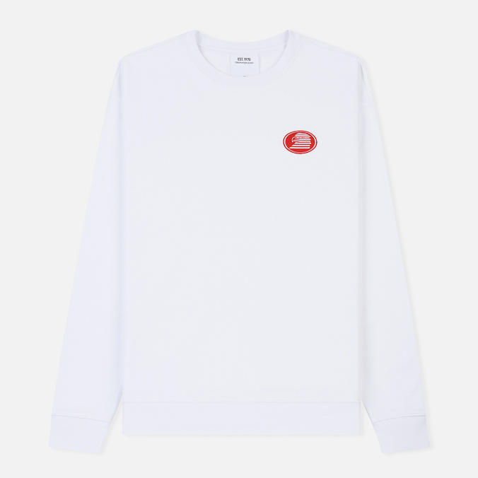 Мужская толстовка Calvin Klein Jeans Est. 1978 Modernist Embroidery Crew Neck Bright White/Eagle