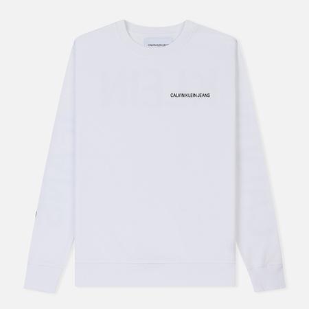 Мужская толстовка Calvin Klein Jeans Logo Bright White