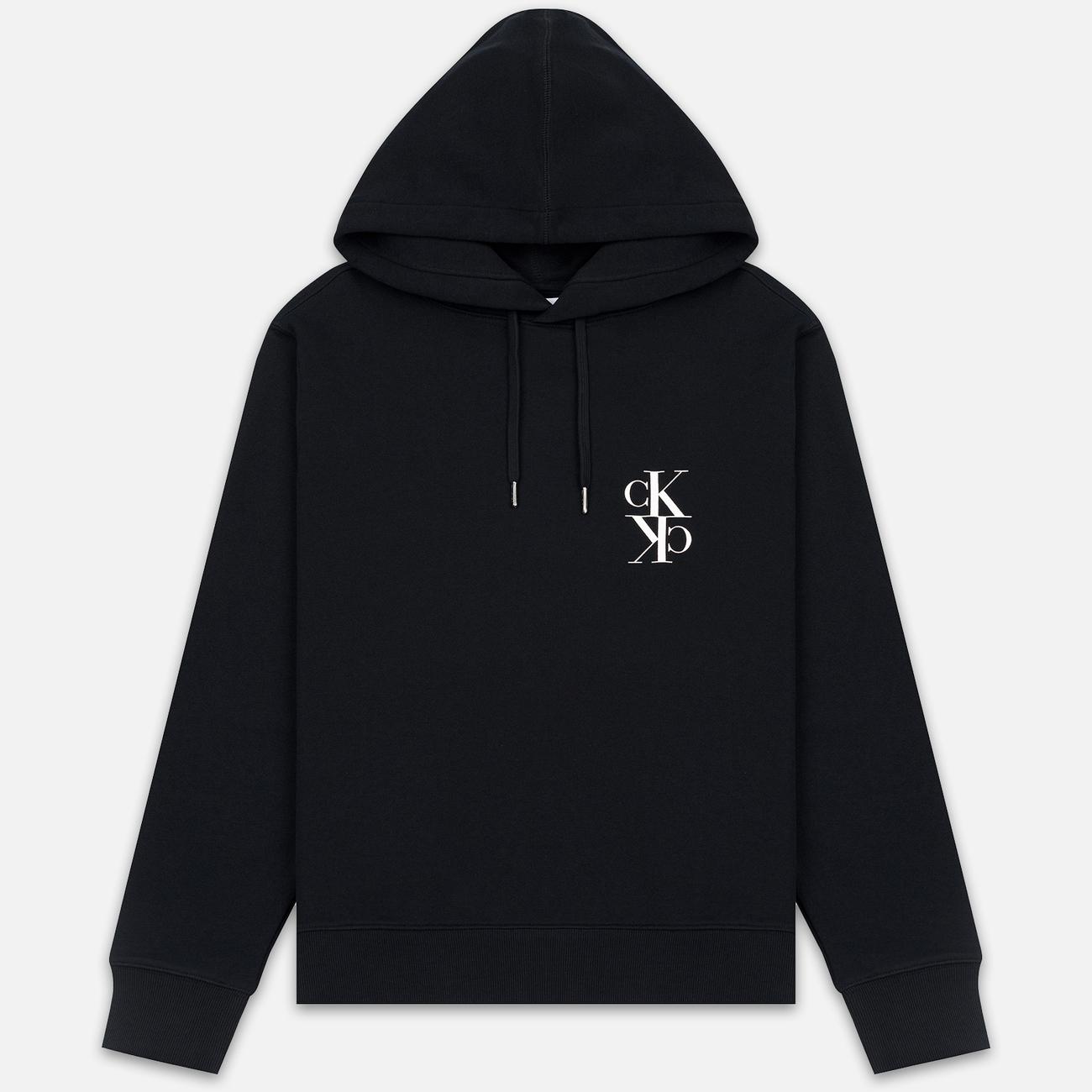 Мужская толстовка Calvin Klein Jeans Mirrored Monogram Logo Black/Bright White
