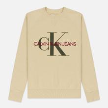 Мужская толстовка Calvin Klein Jeans Monogram Logo Bleached Sand фото- 0