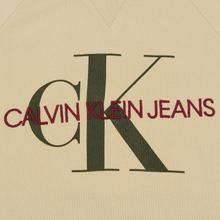 Мужская толстовка Calvin Klein Jeans Monogram Logo Bleached Sand фото- 2