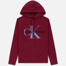 Мужская толстовка Calvin Klein Jeans Monogram Logo Hoodie Beet Red фото- 0