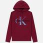 Мужская толстовка Calvin Klein Jeans Monogram Logo Hoodie Beet Red фото - 0