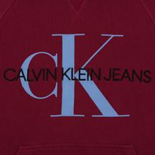 Мужская толстовка Calvin Klein Jeans Monogram Logo Hoodie Beet Red фото- 2