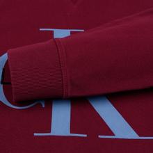 Мужская толстовка Calvin Klein Jeans Monogram Logo Hoodie Beet Red фото- 4