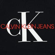 Мужская толстовка Calvin Klein Jeans Monogram Logo Hoodie Black фото- 2