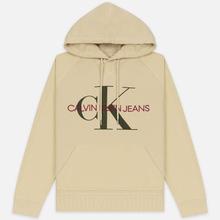 Мужская толстовка Calvin Klein Jeans Monogram Logo Hoodie Bleached Sand фото- 0