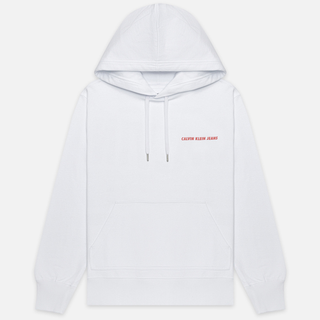 Мужская толстовка Calvin Klein Jeans Monogram Print Logo Hoodie Bright White