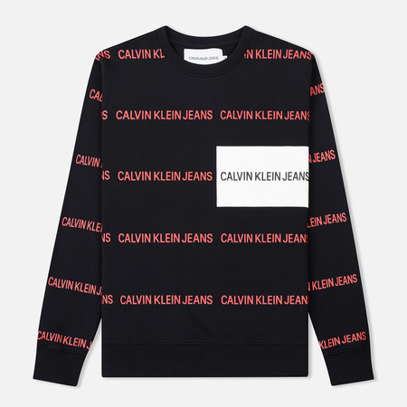 Мужская толстовка Calvin Klein Jeans Multi All-Over Print Logo Black