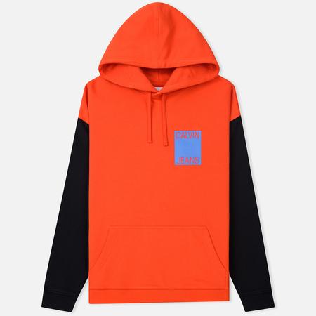 Мужская толстовка Calvin Klein Jeans Oversize Color Block Hoodie Pumpkin Red