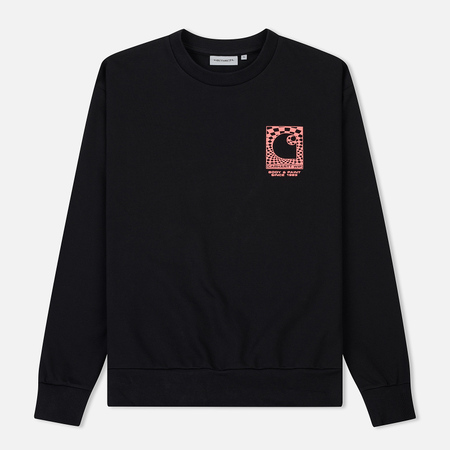Мужская толстовка Carhartt WIP Body And Paint 13 Oz Black/Red