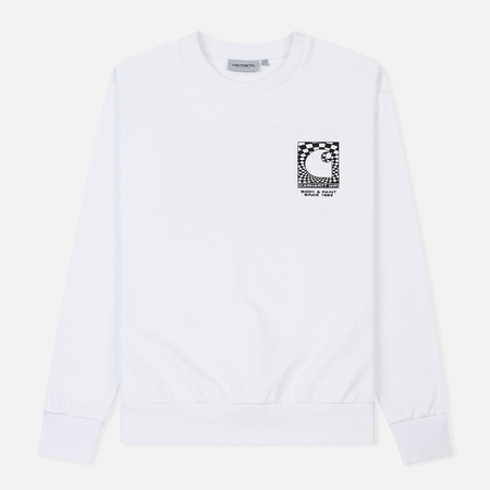 Мужская толстовка Carhartt WIP Body And Paint 13 Oz White/Black