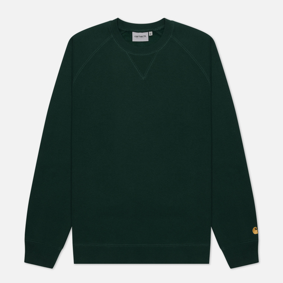 Мужская толстовка Carhartt WIP Chase 13 Oz Bottle Green/Gold