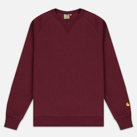 Carhartt WIP Chase 13 Oz Men`s Sweatshirt Chianti/Gold