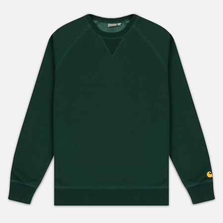 Carhartt WIP Chase 13 Oz Men`s Sweatshirt Conifer/Gold