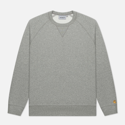 Мужская толстовка Carhartt WIP Chase 13 Oz Grey Heather/Gold