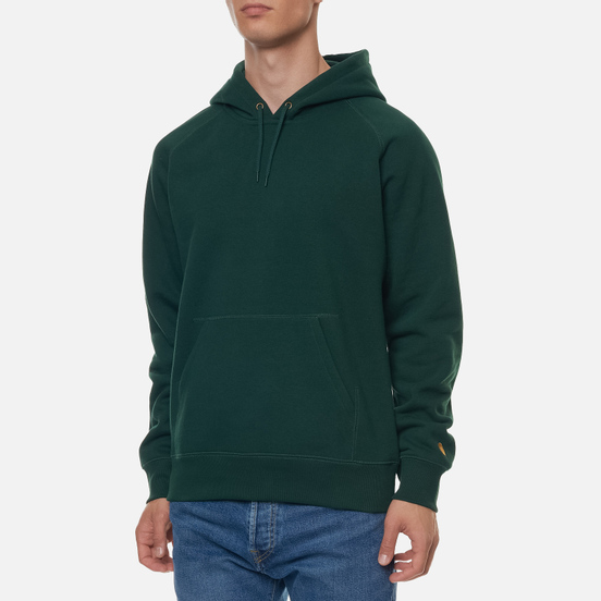 Мужская толстовка Carhartt WIP Chase 13 Oz Hooded Bottle Green/Gold
