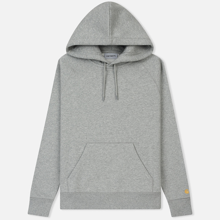 Мужская толстовка Carhartt WIP Chase 13 Oz Hooded Grey Heather/Gold