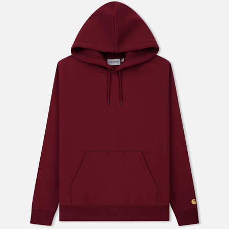 Мужская толстовка Carhartt WIP Chase 13 Oz Hooded Mulberry/Gold