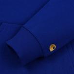 Мужская толстовка Carhartt WIP Chase 13 Oz Hooded Thunder Blue/Gold фото- 3