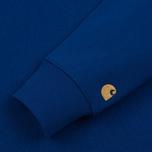 Мужская толстовка Carhartt WIP Chase 13 Oz Thunder Blue/Gold фото- 2