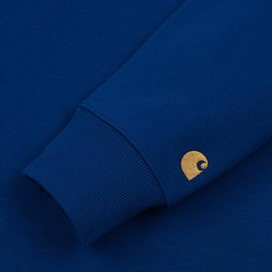 Мужская толстовка Carhartt WIP Chase 13 Oz Thunder Blue/Gold