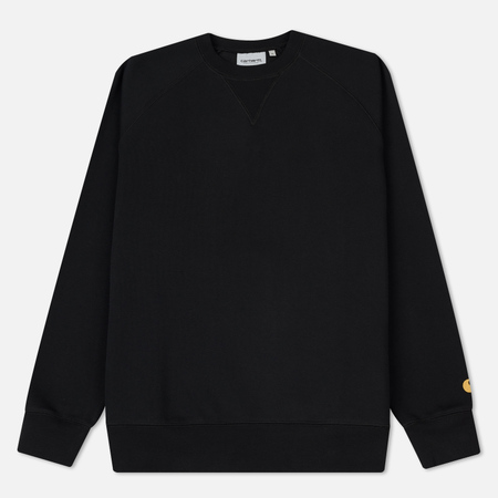 Мужская толстовка Carhartt WIP Chase Brushed 13 Oz Black/Gold
