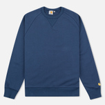 Carhartt WIP Chase Crew Neck Men`s Sweatshirt Blue photo- 0