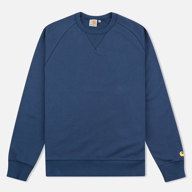 Carhartt WIP Chase Crew Neck Men`s Sweatshirt Blue