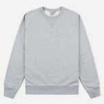 Мужская толстовка Carhartt WIP Chase Crew Neck Grey Heather фото- 0