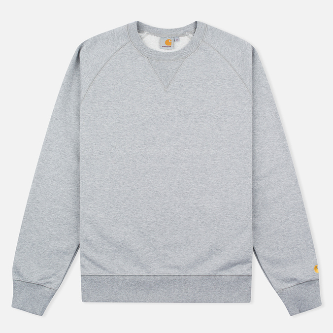 Мужская толстовка Carhartt WIP Chase Crew Neck Grey Heather