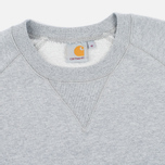 Мужская толстовка Carhartt WIP Chase Crew Neck Grey Heather фото- 1