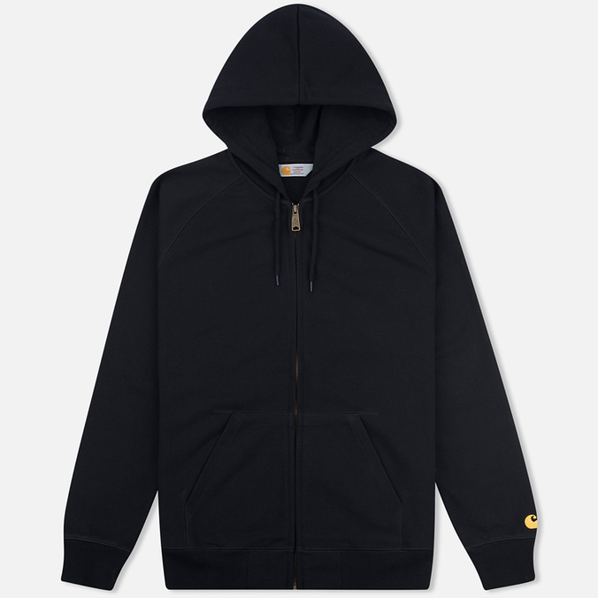 Carhartt WIP Chase Full Zip Men's Hoodie Black