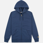 Carhartt WIP Chase Full Zip Men's Hoodie Blue photo- 0