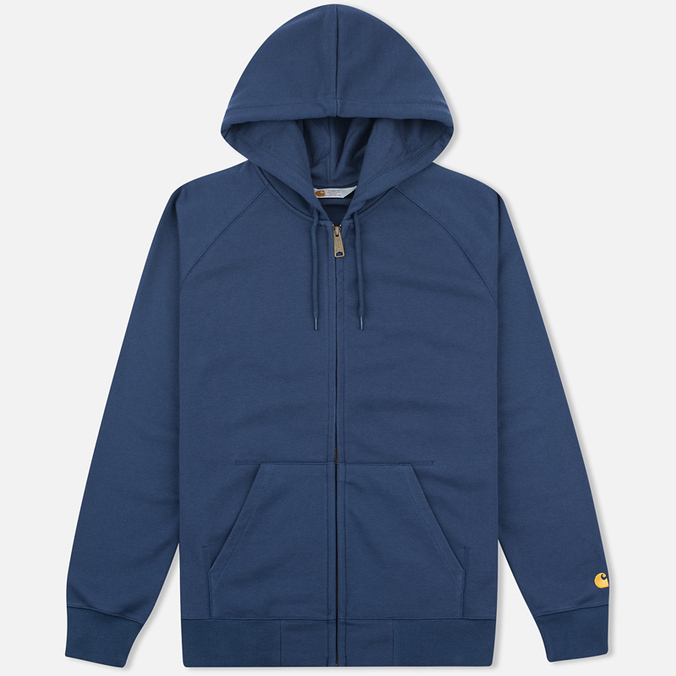 Carhartt WIP Chase Full Zip Men's Hoodie Blue