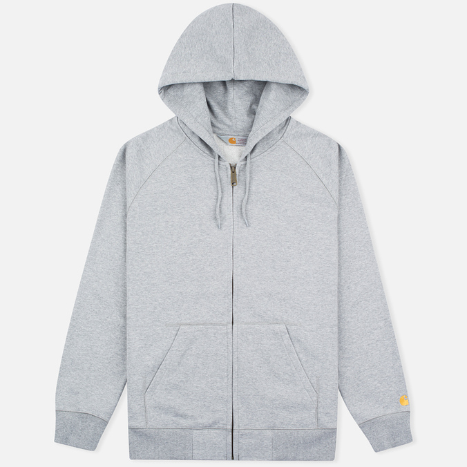 Мужская толстовка Carhartt WIP Chase Full Zip Grey Heather