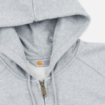 Мужская толстовка Carhartt WIP Chase Full Zip Grey Heather фото- 1