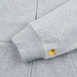 Мужская толстовка Carhartt WIP Chase Full Zip Grey Heather фото- 3