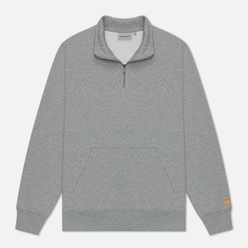 Мужская толстовка Carhartt WIP Chase Neck Zip 13 Oz Grey Heather/Gold