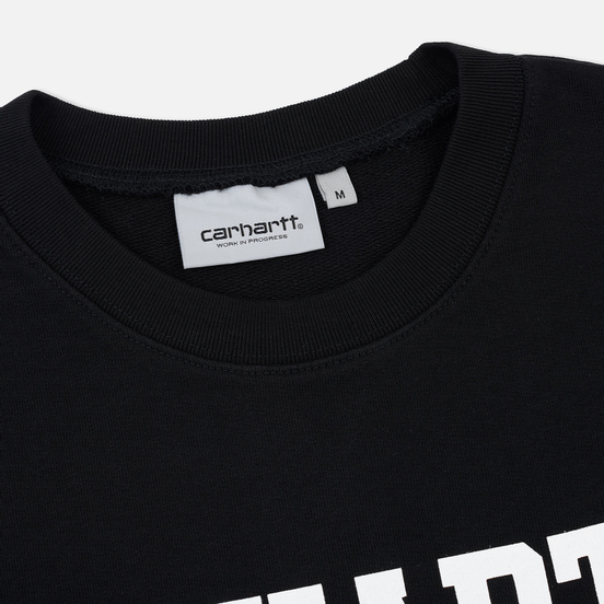 Мужская толстовка Carhartt WIP College 9.4 Oz Black/White